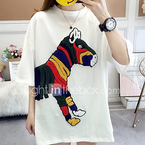 Women's T-shirt - Fruit Patchwork White L