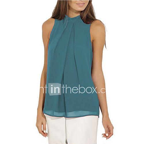 Women's Blouse - Solid Colored Army Green XL