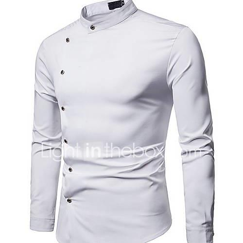 Men's Shirt - Solid Colored White L