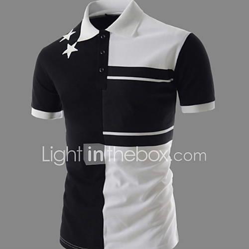 Men's T-shirt - Color Block Black L