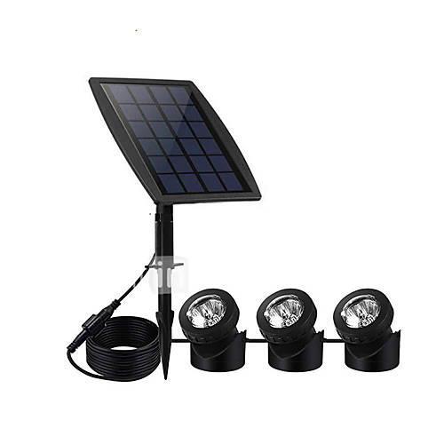 1pc 3 W Solar Wall Light Waterproof / Solar / Decorative Multi Color 3.7 V Outdoor Lighting 15 LED Beads