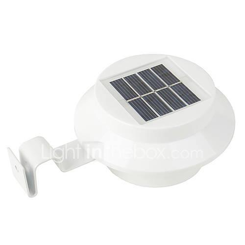 1pc 0.3 W Solar Wall Light Waterproof / Solar / Light Control Warm White / White 1.2 V Outdoor Lighting / Courtyard / Garden 3 LED Beads