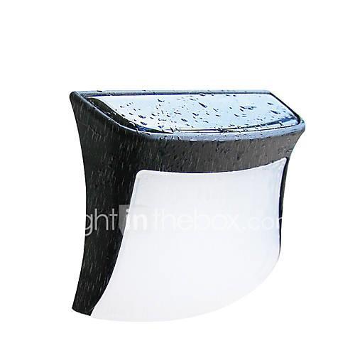 2pcs 0.3 W Solar Wall Light Waterproof / Solar Warm White / White 1.2 V Outdoor Lighting / Courtyard / Garden 3 LED Beads
