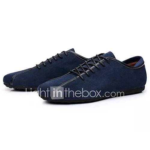 Men's Comfort Shoes PU(Polyurethane) Spring Casual Sneakers Non-slipping Black / Dark Blue / Blue