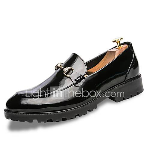 Men's Comfort Shoes PU(Polyurethane) Spring Casual Loafers  Slip-Ons Non-slipping White / Black / Blue