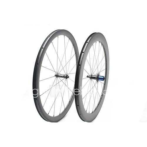 FARSPORTS 700CC Wheelsets Cycling 25 mm Road Bike Carbon Fiber Clincher / Tubeless Compatible 20/24 Spokes 38 mm / 60 mm