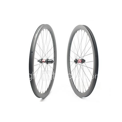 FARSPORTS 700CC Wheelsets Cycling 30 mm Road Bike Carbon Fiber Clincher / Tubeless Compatible 28/28 Spokes 40 mm