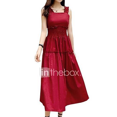 Women's Shift Dress Wine M L XL