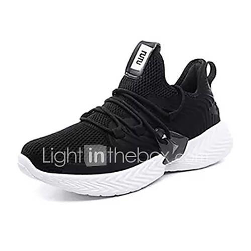 Men's Comfort Shoes PU(Polyurethane) / Tissage Volant Spring Sporty Athletic Shoes Running Shoes Non-slipping Gray / Army Green / Black / White