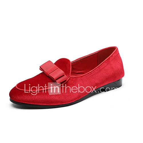 Men's Formal Shoes Faux Leather Spring  Summer Casual / British Loafers  Slip-Ons Non-slipping Color Block Black / Red / Blue / Tassel / Party  Evening