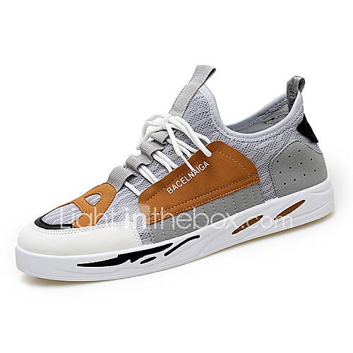 Men's Comfort Shoes Synthetics Spring  Summer Casual Sneakers Walking Shoes Wear Proof Gray / Black / Green