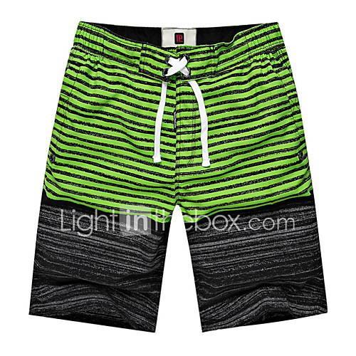 Image of Men's Blue Green Light Blue Swim Trunk Bottoms Swimwear - Color Block XL XXL XXXL Blue