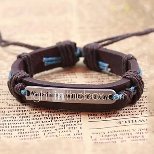 Men's Vintage Bracelet / Leather Bracelet - Leather Coffee