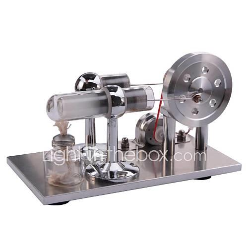 LJKGDQ Stirling Machine Engine Motor Model Display Model Model Building Kit Science  Discovery Toys Educational Toy Toys Square LED DIY