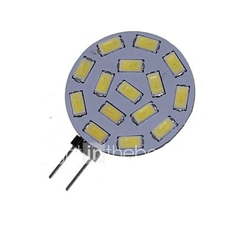 Image of 1.5 W 3000-3500/6000-6500 lm G4 LED Spotlight MR11 15 LED Beads SMD 5730 Decorative Warm White / Cold White 12 V / 24 V / 1 pc / RoHS