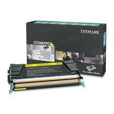 Image of Lexmark C734a1yg Yellow Toner Prebate Yield 6000 Pages For C734 C736