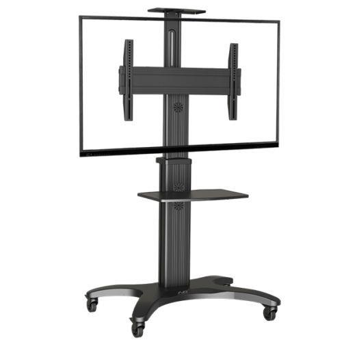 Image of North Bayou Height Adjustable Trolley For Tv Screen Size 32-65 Max 36.4kg