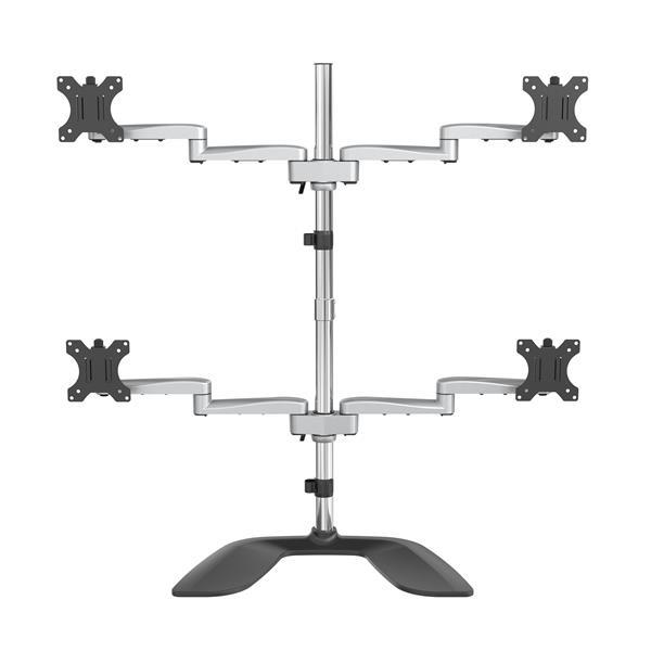 Image of Startech Armquadss Quad Monitor Stand - Articulating