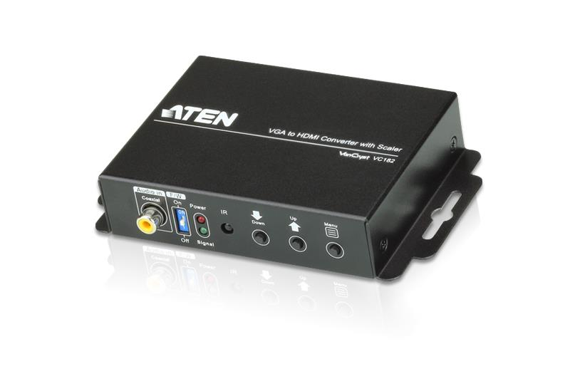 Image of Aten Professional Converter Vga & 3.5mm Audio To Hdmi Converter With Scaler