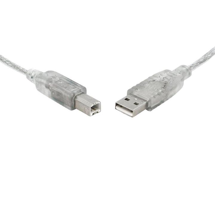 Image of 8ware Usb 2.0 Cable 5m A To B Transparent Metal Sheath Ul Approved