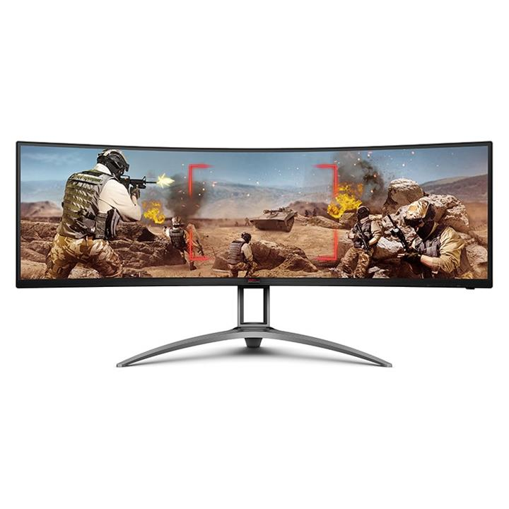 """Image of Aoc Agon Ag493ucx 49"""" 120hz Uwqhd Freesync Premium Pro Hdr Curved Gaming Monitor"""