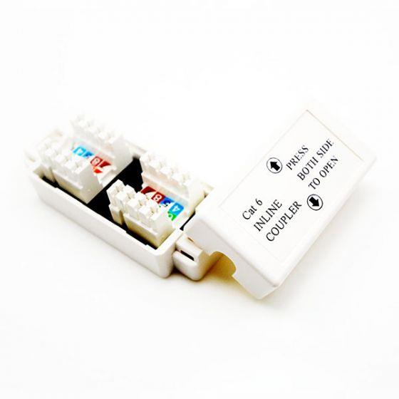 Image of 4cabling Other Cat 6 Inline Coupler - Punch Down: White