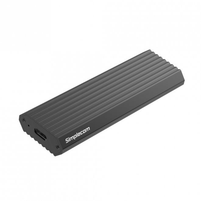 Image of Simplecom Se513-grey Nvme Pcie (m Key) M.2 Ssd To Usb-c 3.1 Gen 2 Type-c Enclosure 10gbps, Grey