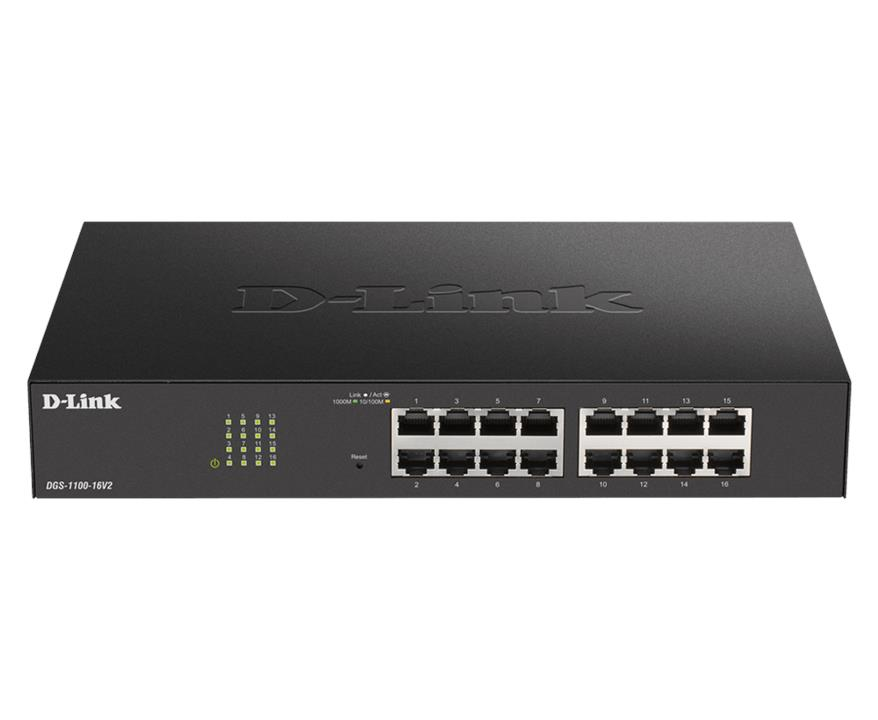 Image of D-link Dgs-1100-16v2 16-port Gigabit Smart Managed Switch