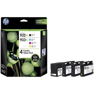Image of Hp 933xl High Yield Cmy(3)/932xl High Yield Black 4-pack Original Ink Crtg Combo
