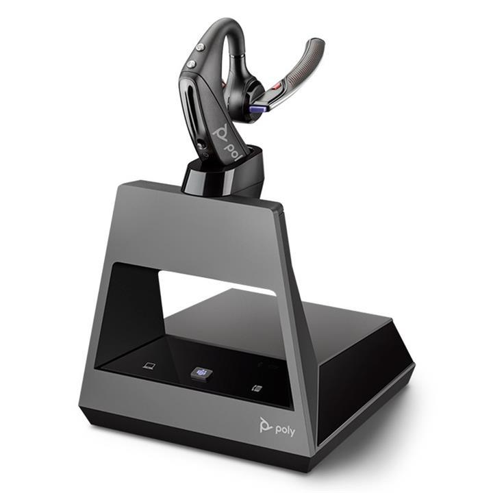 Image of Plantronics Voyager 5200 Mono Bluetooth Headset System - Mt Usb-a 2-way Base 214004-08