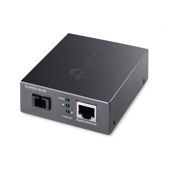 Image of Tp-link Tl-fc311b-20 Gigabit Wdm Media Converter - Ieee 802.3u 1550nm 20km 9/125 Μm Single-mode Fiber (compatible With Tl-fc311a-20)
