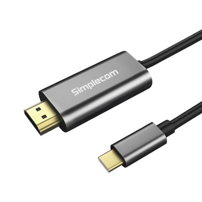 Image of Simplecom Da321 Usb-c Type C To Hdmi Cable 1.8m (6ft) 4k@30hz
