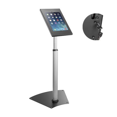 Image of Brateck Anti-theft Height Adjustable Tablet Kiosk Stand 9.7'/10.2' Ipad, 10.5' Ipad Air/ipad Pro, 10.1' Sansung Galaxy Tab A (2019)