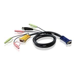 Image of Aten Kvm Cable 3m With Vga, Usb & Audio To 3in1 Sphd & Audio To Suit Cs173xb, Cs173xa, Cs175x