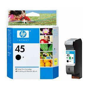Image of Hp No.45 Black Inkjet Cartridge (51645aa)