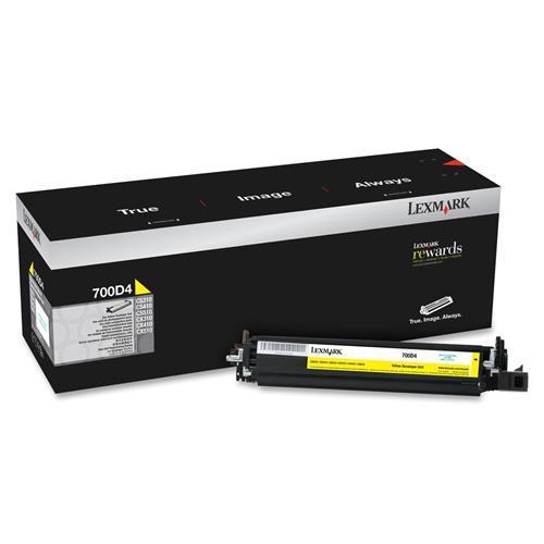 Image of Lexmark 700d4 Yellow Developer, 40k, Cs/cx 310/410/510