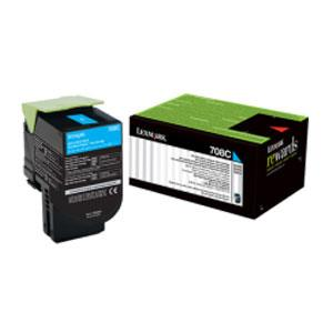 Image of Lexmark 708c Cyan Toner 1,000 Pages Cyan