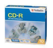 Image of Verbatim 94935 Verbatim Cd-r 10pack Slim Case