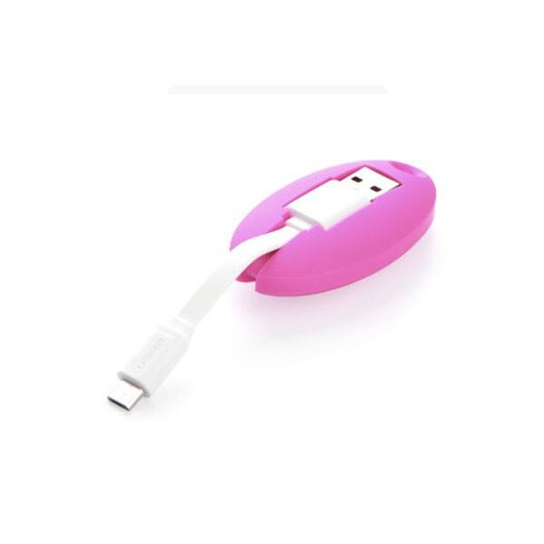 Image of Ugreen Usb To Micro Usb Key Chain Cable - Pink