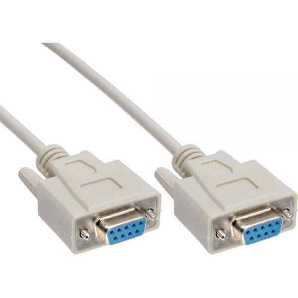 Image of Astrotek Null Modem Cable 3m - Db9 Female To Female 7c 30awg-cu Molded Type Rohs Grey (at-db9null