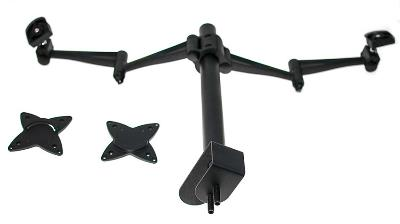 Image of Astrotek Monitor Stand Desk Mount 36cm Arm For Dual Screens 13'-29' 15kg 30� Tilt 180� Swivel 360�