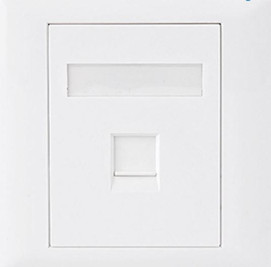 Image of Astrotek Cat5e Rj45 Wall Face Plate 86x86mm 1 Port Socket Kit (atp-sc-5e-1)