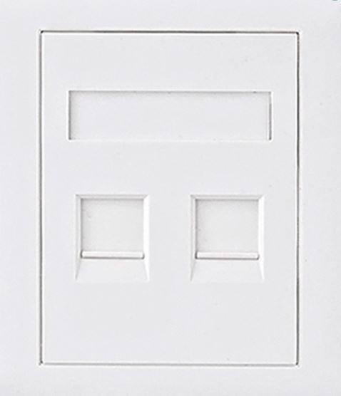 Image of Astrotek Cat5e Rj45 Wall Face Plate 86x86mm 2 Port Socket Kit (atp-sc-5e-2)