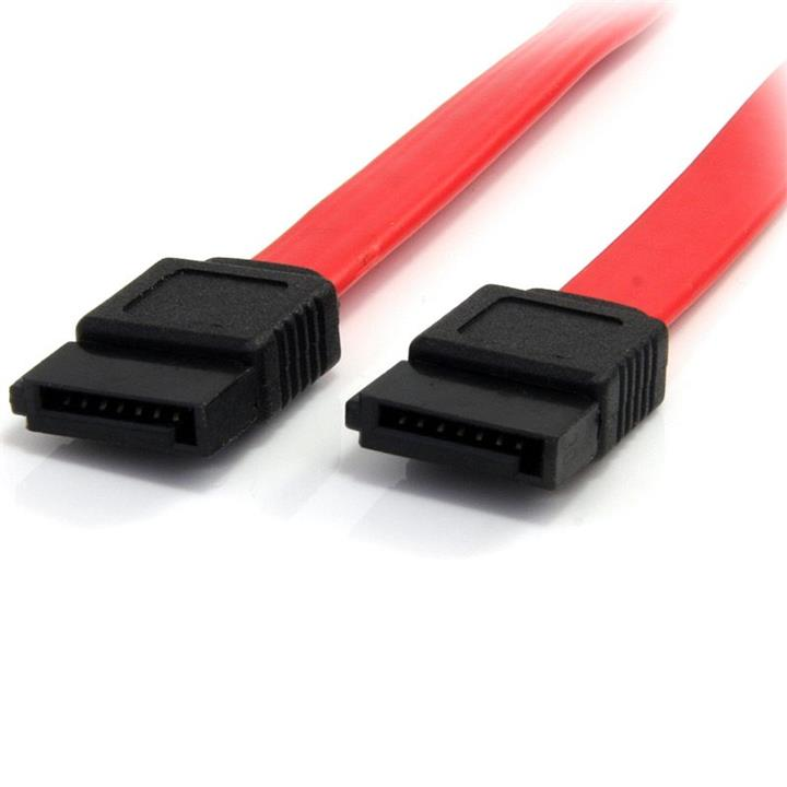 Image of Sata Data Cable 50cm 7 Pins To 7 Pins Straight 26awg Red (at-sata-180d)