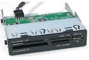 Image of Astrotek 3.5' Internal Card Reader Black All In One Usb2.0 Hub Cf Ms Sd Flash Memory Card