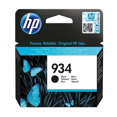 Image of Hp #934 Black Ink Cartridge C2p19aa 400 Pages