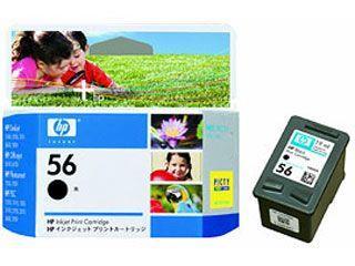 Image of Hp 56 Black Inkjet Cartridge (c6656aa)