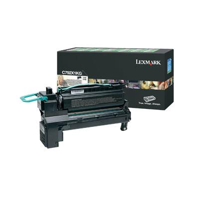 Image of Lexmark C792x1cg High Yield Prebate Cyan Cartridge 20,000