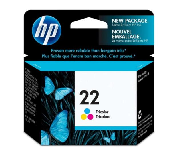 Image of Hp 22 Ap Tricolour Inkjet Cartridge 140k Pg (c9352aa)