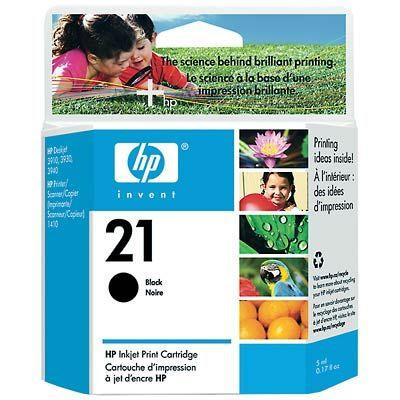 Image of Hp 21 Black Ap Inkjet Cartridge (c9351aa)